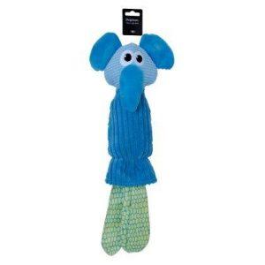 DogMan Abel Hundelegetøjs Bamse i Plys - 47x22cm - Med Skrale og Pivelyd