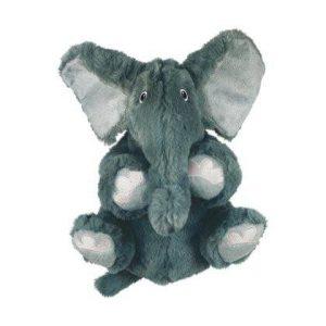 Kong Comfort Kiddos Hvalpelegetøjs Bamse Elefant i Plys - Flere Størrelser - Med Aftagelig Piv