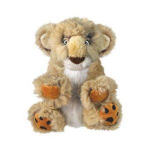 Kong Comfort Kiddos Hvalpelegetøjs Bamse Løve i Plys - 23cm - Med Aftagelig Piv - - - -