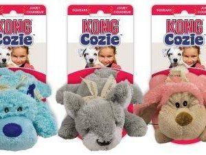 Kong Cozie Pastel Hundelegetøjs Bamse - Med Ekstra Stoflag - 22x22x10cm - Med Pivelyd - - - -