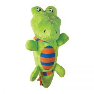 Kong Hundelegetøjs Tugga Stretchez Alligator - 20x10cm