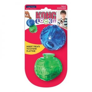 Kong Lock-it Hundelegetøjs Aktivitets Bold - Large - 2stk