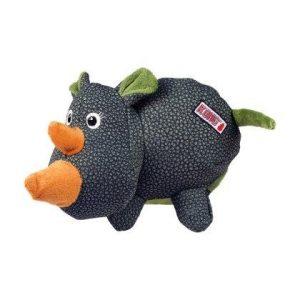Kong Phatz Hundelegetøjs Bamse Næsehorn i Slidstærkt Materiale - 13x9x8m - Med Pivelyd - - - -