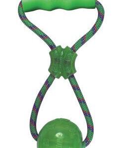 Kong SQ Hundelegetøjs Bold med Reb og Håndtag - 27x11,5x10cm - Med Pivelyd - - - -