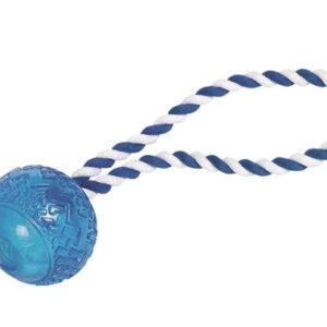 Nobby Hundelegetøjs Gummi Bold Med Reb - 26 X Ø7cm