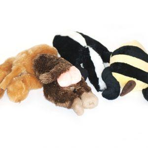 PartyPets Hundelegetøjs Numse Bamser - 20cm - Med Pivelyd - - - -