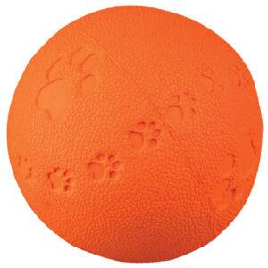 Trixie Hundelegetøjs Bold i Naturgummi - Flere Størrelser - Med Pivelyd