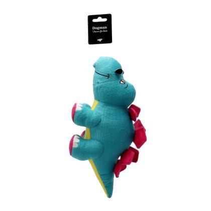 Dogman Hundelegetøjs Stegosaurus Bamse - 30x14x17,5cm - Med Pivelyd
