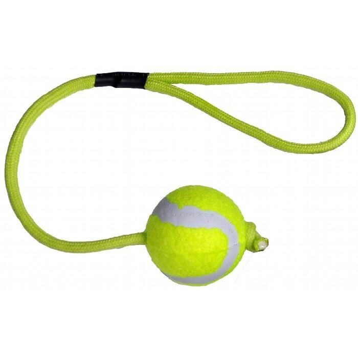 Kw Hundelegetøjs Mini Tennisbold - Med Snor - Ø42mm