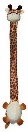 Kong Danglers Hundelegetøjs Bamse Giraf I Blødt Og Slidstærkt Materiale - 62x11x8cm - Med Skrale og Pivelyd - - - -
