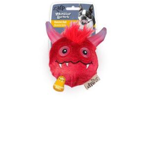 """afp Hundelegetøjs Monster Bold i Rød - """"Monster Bunch"""" - 11cm"""