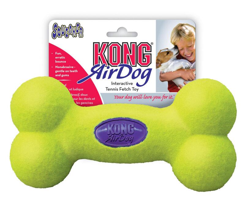 Kong Hundelegetøjs AirDog Squeaker Bone Tennisbold, Large