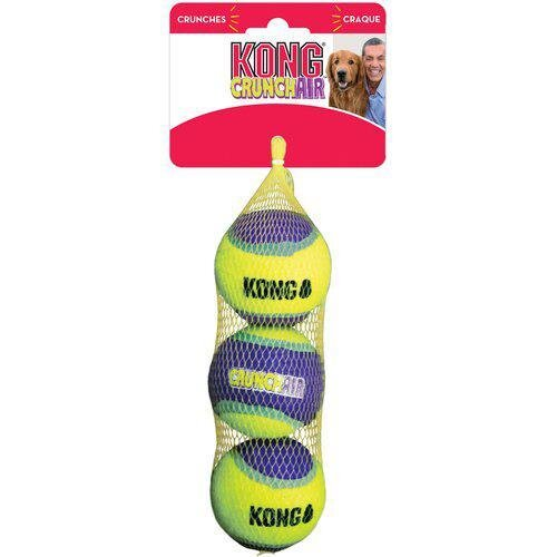Kong Hundelegetøjs Crunchair Bolde - 3stk - Medium - Ø6cm