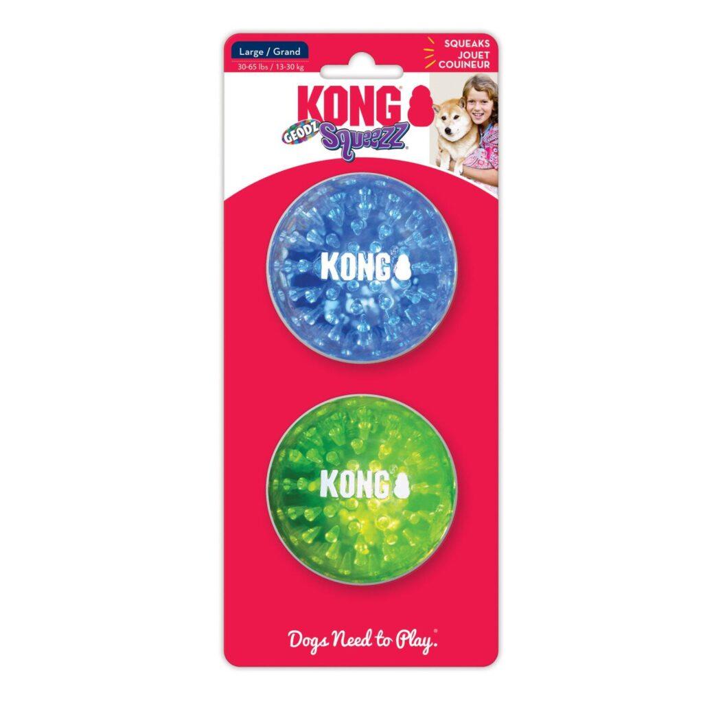 Kong Squeeze Geodz, 2 stk. bolde
